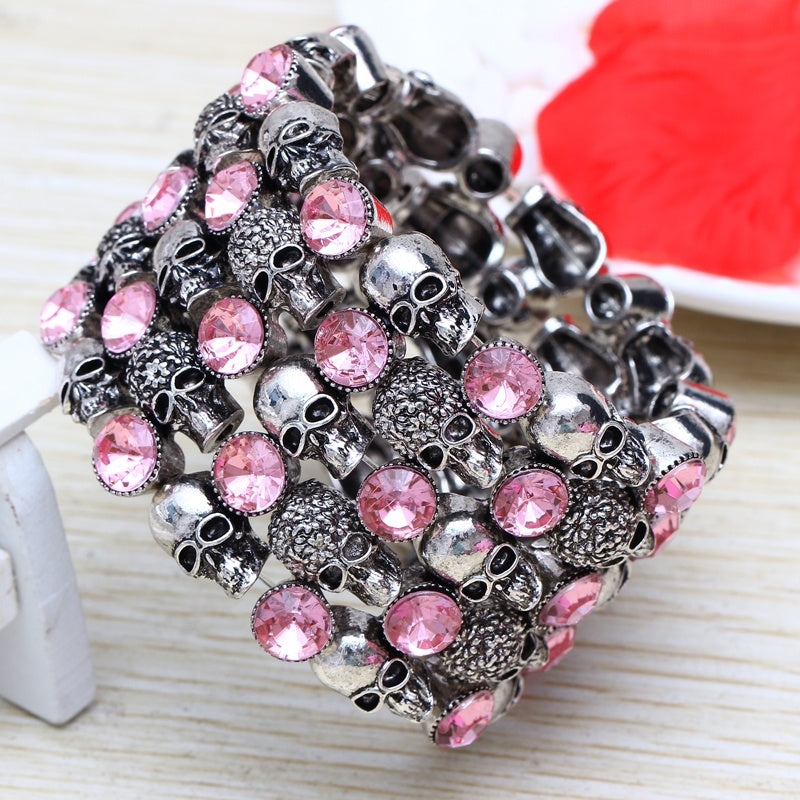 women's fashion punk style skull bracelet skull jewelry
