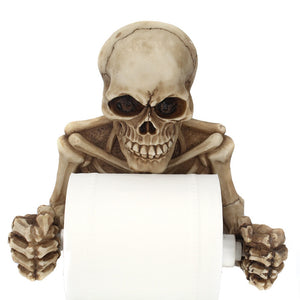 skull figure gothic punk style toilet paper holder