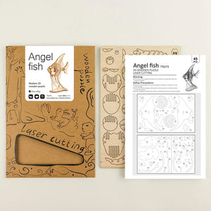 3D Wood Craft Animal DIY Assembly Kit (Angel fish)
