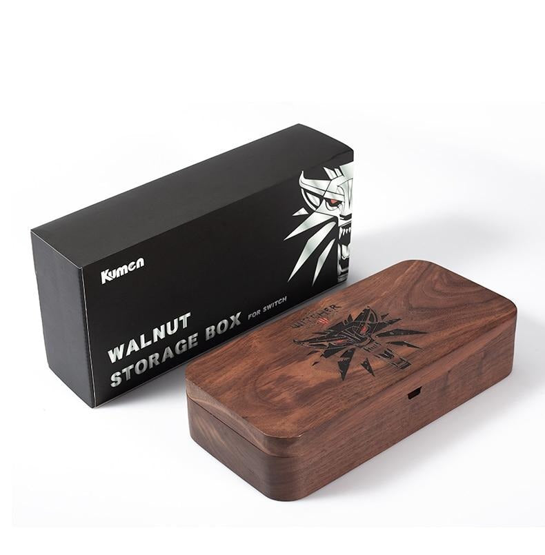 Walnut Storage Box For Game Console (Wood)