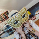Mardi Gras Mask Shoulder Bag