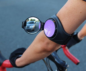 Wrist Mounted Cycling Rear View Mirror