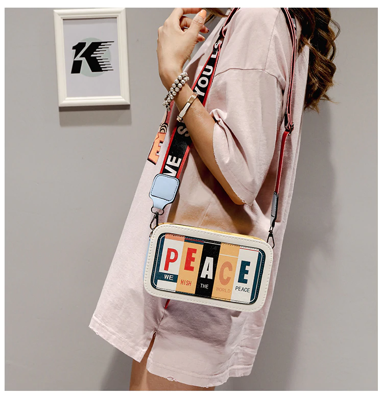 PEACE Personality Shoulder Bag