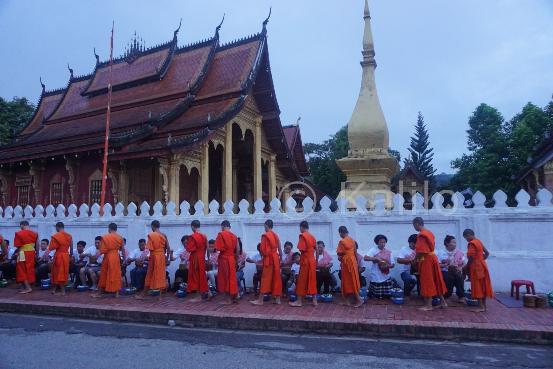 Sai Bat - Morning Alms - Luang Prabang, Laos