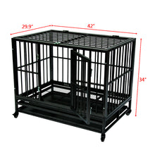 "Load image into Gallery viewer, 42"" Dog Kennel Medium & Large"