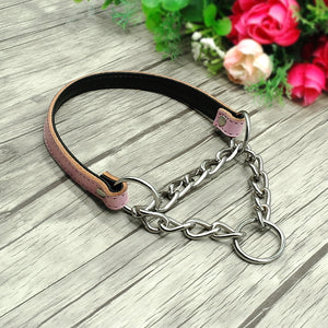 Martingale Leather Dog Collar,