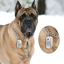 Load image into Gallery viewer, Dog ID Tag Stainless Steel Customized