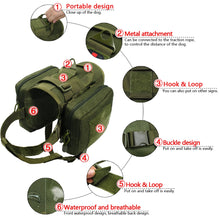Load image into Gallery viewer, Harness Waterproof  Detachable Molle Pouches