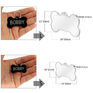Dog ID Tag Stainless Steel Customized