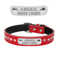 Load image into Gallery viewer, Bling Puppy Dog Cat Collar Personalized Engraved Pet Dog ID Tag Collars For Small Cats Dogs Custom Chihuahua Rhinestone Collars