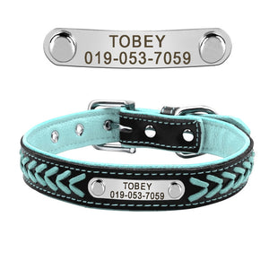 Bling Puppy Dog Cat Collar Personalized Engraved Pet Dog ID Tag Collars For Small Cats Dogs Custom Chihuahua Rhinestone Collars