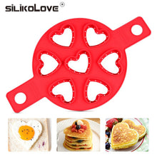 Load image into Gallery viewer, Nonstick Pancake Maker 4 Grids Silicone Kitchen Pancake Mold Egg Cooking Tool Easy Fried Egg Ring Maker