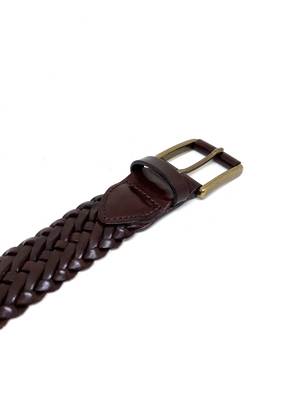 Hand-braided leather Belt - CEDRO - BOCA MMXII - Official website