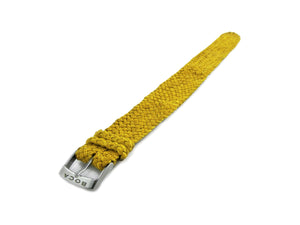 Yellow leather watch strap - one piece - - BOCA MMXII - Official website