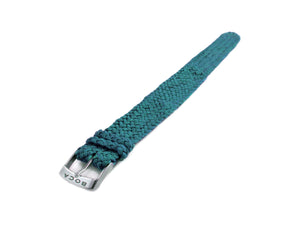 Turquoise leather watch strap - one piece - - BOCA MMXII - Official website
