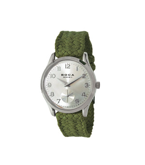 CRUZ SILVER WITH OLIVE WRISTBAND