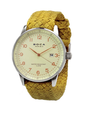 Grand Traveler Beige Beige - Yellow Wristband - BOCA MMXII - Official website