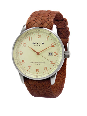 Grand Traveler Beige Beige -  Bright Tobacco Wristband - BOCA MMXII - Official website