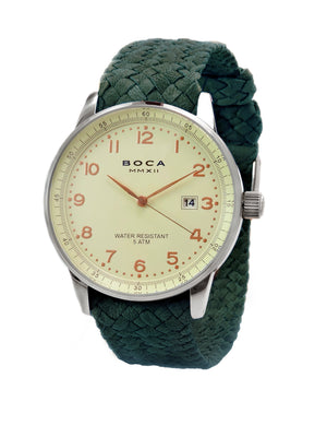 Grand Traveler Beige Beige -  Forest Green Wristband - BOCA MMXII - Official website
