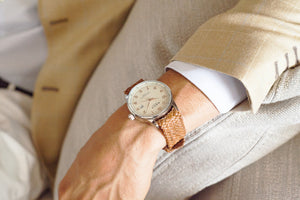 Grand Traveler Beige Beige - Olive Wristband - BOCA MMXII - Official website
