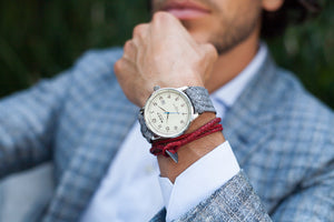Grand Traveler Beige Silver - Camel Wristband - BOCA MMXII - Official website