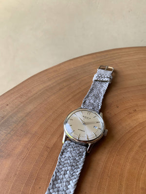 Riviera Silver Automatic - Olive Wristband
