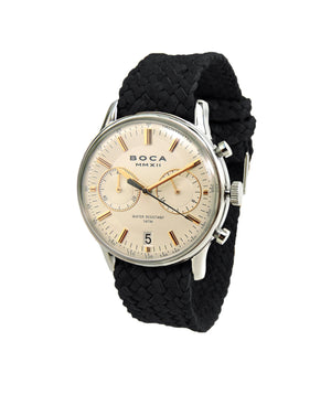 Metropole Chrono Beige with Black Wristband - BOCA MMXII - Official website