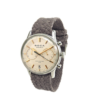 Metropole Chrono Beige with Grey Wristband - BOCA MMXII - Official website