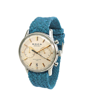 Metropole Chrono Beige with Turquoise Wristband - BOCA MMXII - Official website