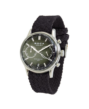 Metropole Chrono Black with Black Wristband - BOCA MMXII - Official website