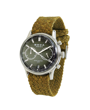Metropole Chrono Black with Camel Wristband - BOCA MMXII - Official website