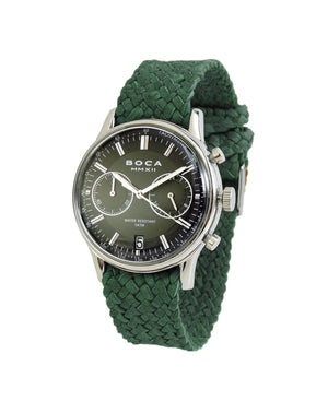 Metropole Chrono Black with Forest Green Wristband - BOCA MMXII - Official website