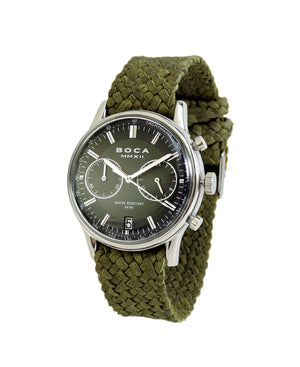 Metropole Chrono Black with Olive Wristband - BOCA MMXII - Official website