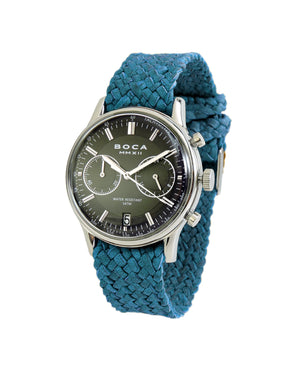 Metropole Chrono Black with Turquoise Wristband - BOCA MMXII - Official website