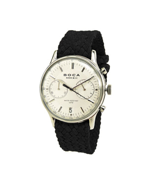 Metropole Chrono Silver with Black Wristband - BOCA MMXII - Official website