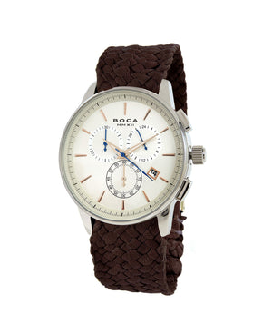 Momento Chrono Copper -  Brown Wristband - BOCA MMXII - Official website