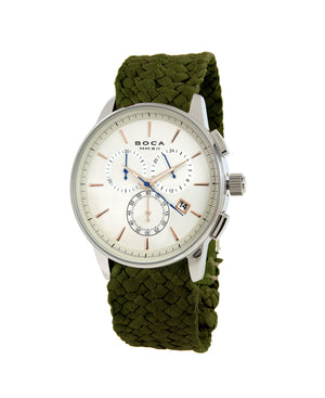 Momento Chrono Copper -  Olive Wristband - BOCA MMXII - Official website