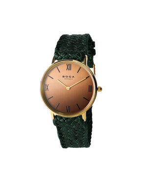 Montalban Small Gold - Forest Green Wristband