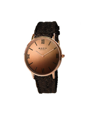 Montalban Large Rose Gold - Brown Wristband