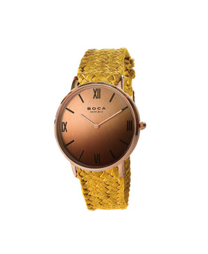 Montalban Large Rose Gold - Camel Wristband