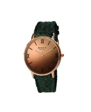 Montalban Large Rose Gold - Forest Green Wristband