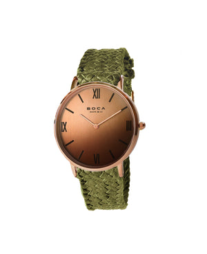 Montalban Large Rose Gold - Olive Wristband