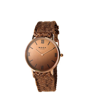 Montalban Small Rose Gold - Bright Tobacco Wristband