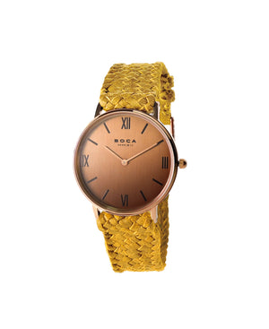 Montalban Small Rose Gold - Camel Wristband