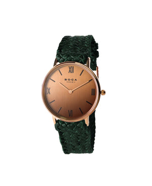 Montalban Small Rose Gold - Forest Green Wristband
