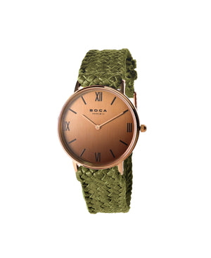 Montalban Small Rose Gold - Olive Wristband