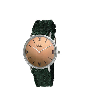 Montalban Small Silver - Forest Green Wristband
