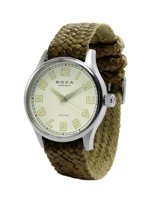 Primero Beige - Olive Wristband - BOCA MMXII - Official website