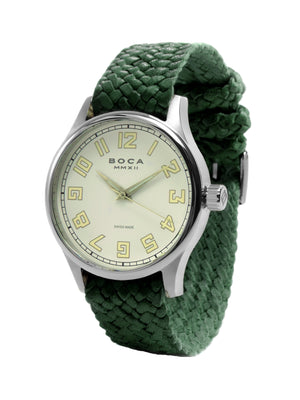 Primero Beige - Forest Green Wristband - BOCA MMXII - Official website