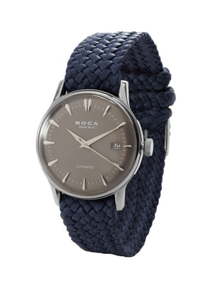 Riviera Grey Automatic - Night Blue Wristband